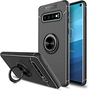 Soft Shockproof Case for Samsung Galaxy S10 Full Cover Magnetic Ring Bracket Case