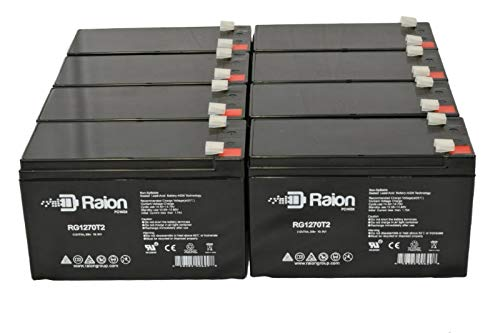 Raion Power RG1270T2 12V 7Ah Replacement UPS Backup Battery for APC SYBTU1-PLP - 8 Pack