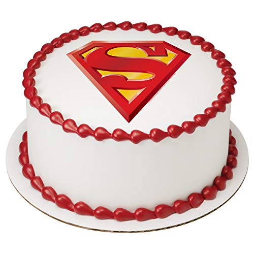 "Superman Superhero Edible Cake Topper Decoration (8"" Round)"