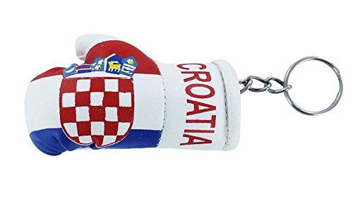 Tür Schlüssel Schlüssel Schlüssel Flagge der Kroatien Kroatische kroatischen Boxhandschuh Flag