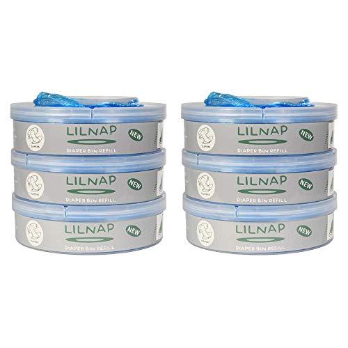 LILNAP - Ricarica mangiapannolini compatibile per Tommee Tippee Sangenic TEC e Tommee Tippee Sangenic Twist & Click (6 ricariche)