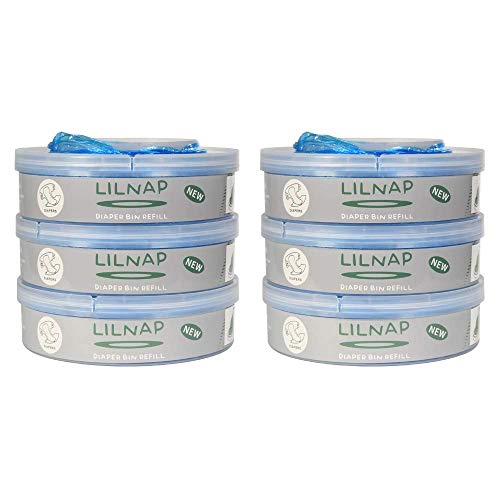 LILNAP - Recarga de pañales compatible para Tommee Tippee Sangenic TEC y Tommee Tippee Sangenic Twist & Click (6 recambios).