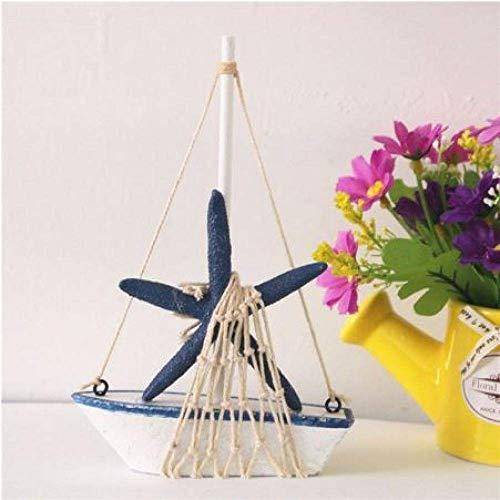 1yess Wohnzimmer Dekorationen Segelboot Modell Vintage Marine Holz Segelschiff Segelboot Schiff Party Wohnkultur Model Handwerk Marine Nautische Haushalt Kunst Ornamente