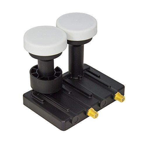 PremiumX Twin Monoblock 4,3° PXMB-43T für den Sat Empfang von Astra 19,2° und Astra 23,5° Satellit Full HD HDTV 4K für 2 Teilnehmer