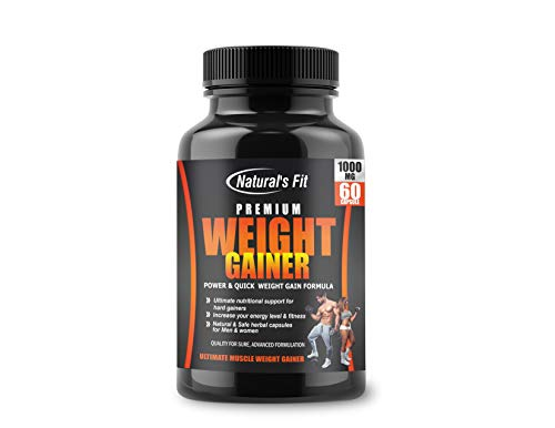 Natural's Fit Premium Weight Gainer 1000Mg Capsule Supplement For Men And Women - 60 Veg Capsules