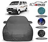 DRIZE Maruti Eeco Car Body Cover Waterproof with Triple Stitched Fully Elastic Ultra Surface Body Protection (Grey Look)