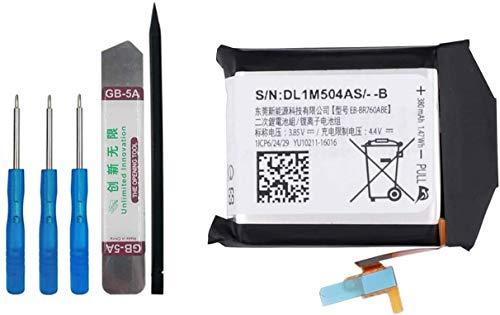 E-YIIVIIL EB-BR760ABE - Batería de repuesto compatible con Samsung Gear S3 Frontier S3 Classic SM-R760 R765 R770 con kit de herramientas