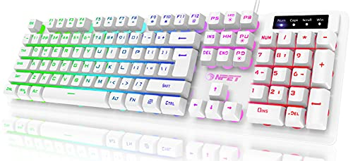 NPET K10 Gaming Keyboard USB Wired Floating...