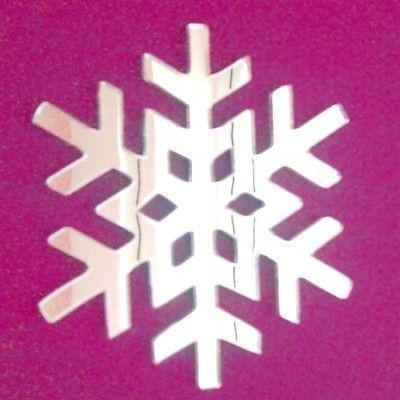ServeWell Frozen Snowflake Specchio da Parete, plastica, 45 x 45 cm