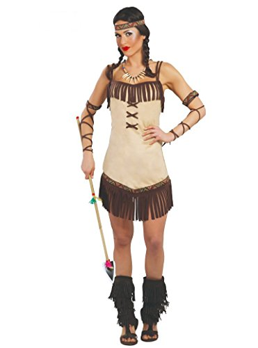 Guirca Déguisement d'Indienne Femme - Taille Unique