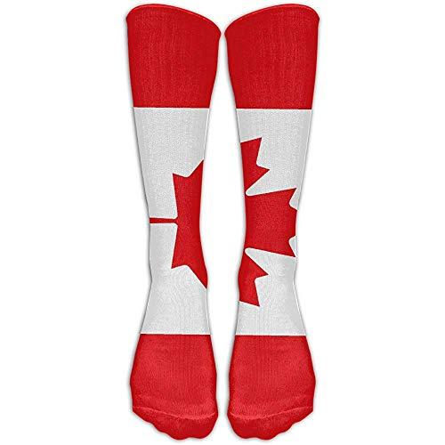 NA LJB Unisex Canada esdoorn vlag kniehoge lange sokken Athletic Sports Tube kousen voor hardlopen, voetbal