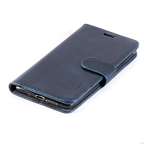 Mulbess Handyhülle für Huawei Mate 10 Hülle, Leder Flip Case Schutzhülle für Huawei Mate 10 Tasche, Dunkel Blau - 5