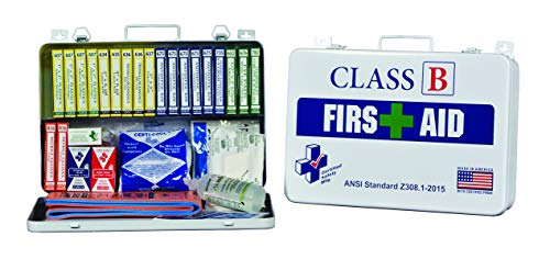 Class B 36 First Aid Kit, Workplace Injury Treatment, Unitized & Color Coded for Easy Organization and Refill Managment