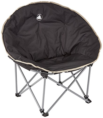 10T Outdoor Equipment 10T Moonchair Silla de Camping, Unisex, Negro, Estándar