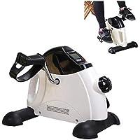 Ejercitador de brazos y piernas con monitor LCD, bicicleta de pedales de entrenamiento ajustable, equipo de ejercicios para personas mayores y recuperación de ancianos