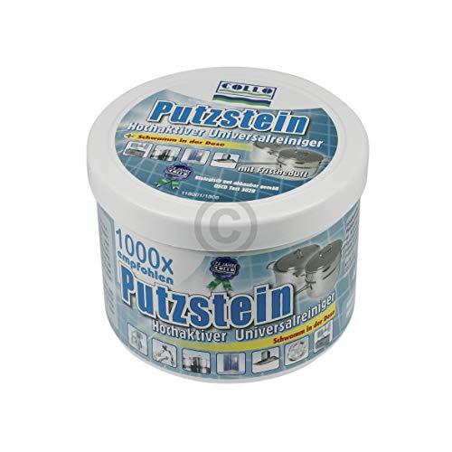 Collo 110 UNIVERSAL 400g Spezialschaum Putzstein mit Schwamm zum Reinigen Polieren Pflegen Versiegeln von Küche Bad Fensterrahmen Stahl Keramik Kacheln
