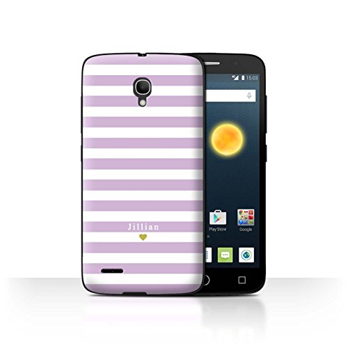 Stuff4Phone Case/Cover/Skin/alcpop25/Custom Stripes/Striped Collection Bébé Coeur Rose