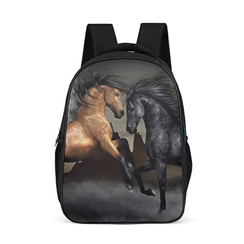 Mochila para niños y niñas con diseño de caballo de animales para niños y niñas