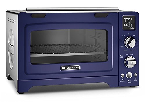 KitchenAid 12 inches Digital Countertop Oven | Cobalt Blue (Renewed)