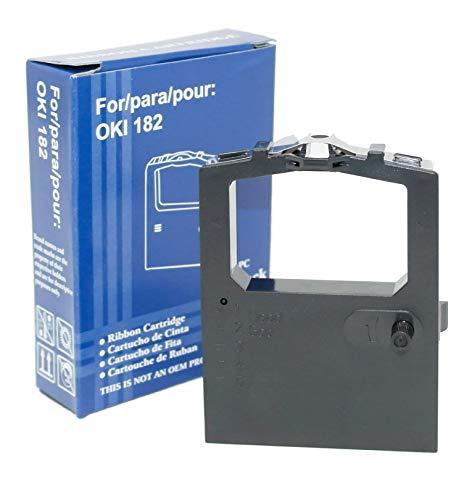 OBV 6X kompatibles Farbband als Ersatz für Oki 9002303/9002309 für Oki ML 182 / ML 390 / ML 100 120 172 180 182 183 184 186 188 192 193 195 240 280 320 321 325 351 390 391 3320 3321