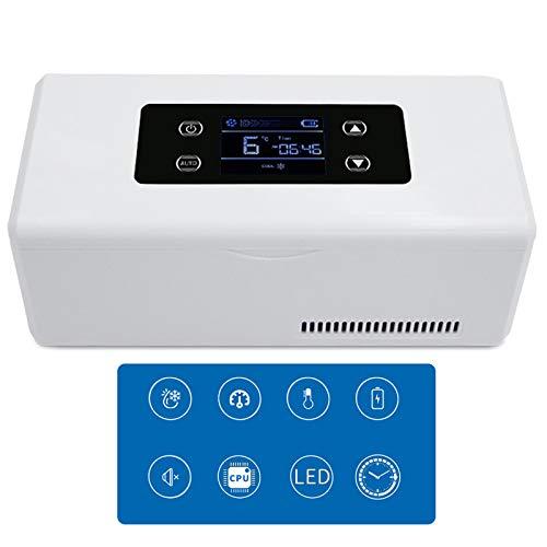 hzexun Nevera portátil de insulina refrigerada con Pantalla LED para Medicina, refrigerador y Reefer de Drogas de 2 a 8 °C para Viajes o refrigerador de medicamentos para el Coche