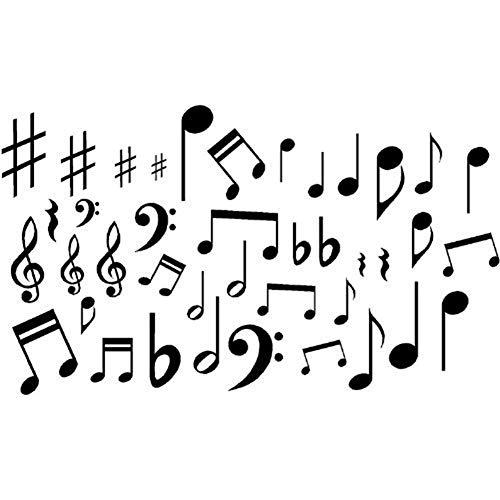 Precauti Notas Musicales Adhesivos de Pared para Fiesta de Concierto Decoraciones para el hogar