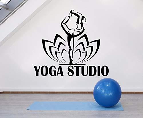 Geiqianjiumai Yoga Galerie Logo Lotus Muurtattoo Yoga Houding Yoga Studio Decoratie Muurschildering Vitrinedecoratie