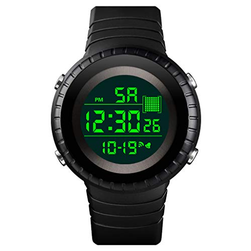 Snowlike❆Watches for Womens, Wristwatch Luxury Mens Women Digital LED Watch Date Sport Outdoor Electronic Watch Black