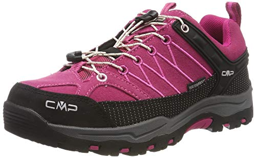 CMP Unisex Kids Rigel Low Shoes Wp Trekking- & Wanderhalbschuhe, Pink (Geranio-Off White 10hc), 36 EU