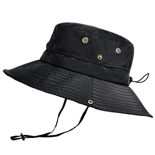 N\C Sombrero de pescador al aire libre transpirable sombrero de sol sombrero de sol montañismo pesca sombrero de sol negro