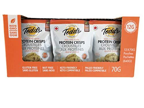 Todd's Better Snacks Protein Crisps White Cheddar, Pack of 12, 840 g
