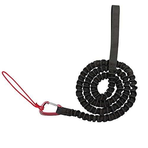 Fahrrad-Abschleppseil, Eltern-Kind-Fahrrad-Traktions-Stretch-Seil, Bungee-Seil mit haltbaren D-Ringen, kompatibel mit Allen Fahrradrahmen, elastisches Fahrrad-Zugseil, ideal für Familienfahrten