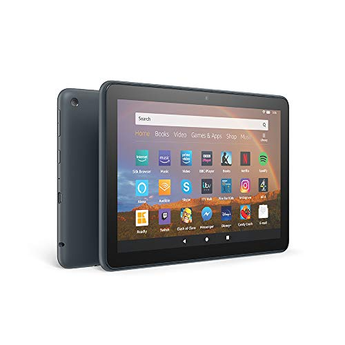 Fire HD 8 Plus tablet, 8' HD display, 64 GB, Slate with Ads, Our best 8' tablet for portable entertainment