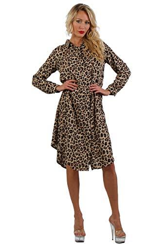 ENISE Damen Hemdkleid Kariertes Blusenkleid Streifen Freizeitkleid Hemdbluse Wadenlang Langarm V-Ausschnitt (Mehrfarbig (Schwarz/Braun), XL)