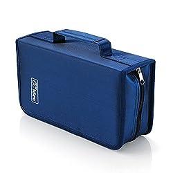top 10 kid cd case 128 CD / DVD box holder, CCidea (blue) special storage folder
