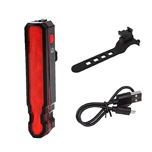 Luz trasera de araña para bicicleta, luz trasera de seguridad LED, luz trasera, luz roja