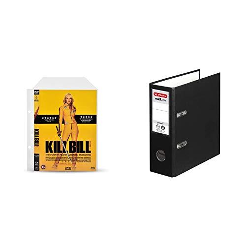 3L Fr 10282 – DVD-Hüllen, perforiert, transparent, mit Klappe, zum Aufbewahren von DVD-Scheiben & -Umschlägen – 100 Stück und Herlitz 10842300 Ordner maX.File Protect, A5 hoch, Farbe schwarz