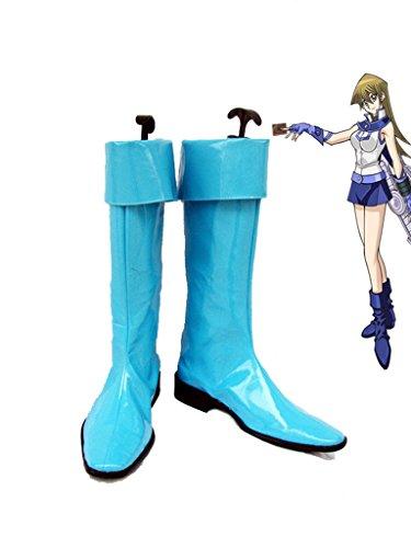 Yu-Gi-Oh. GX Alexis Rhodes Cosplay Schuhe Stiefel Custom Made, damen Mädchen Jungen Herren, blau