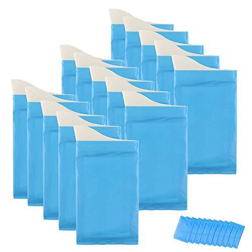 Lyeiaa 携帯トイレ 非常用トイレセット 15回分 600cc 高分子吸収樹脂で固める 使い捨てトイレ 男女兼用, どこでもミニトイレ 車用/アウトドア/旅行/登山/子供/渋滞/災害など緊急ときの対策 仮設トイレ (ブルー)