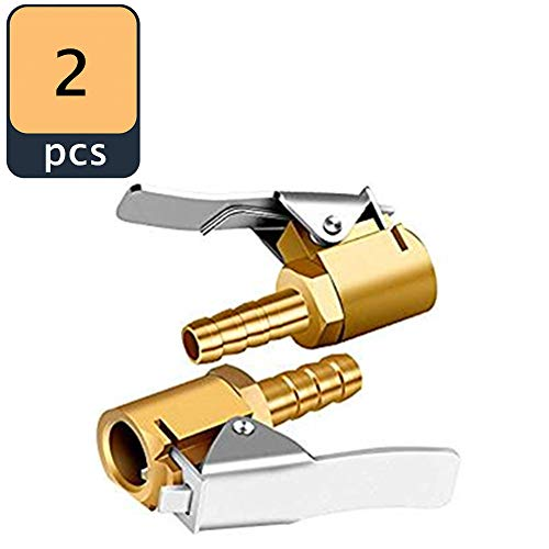8mm SENZEAL 2 x Hebelstecker Air Chuck Messing neu Reifenf/üllnippel Ventilaufsatz Momentstecker
