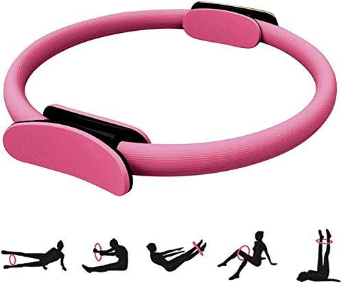 Pilates Yoga Ring, Pilates Double Handle Ring, Dual Grip Magic Exercise Circle, Balanced Body Ultra-Fit Circle Pilates Ring, Exercise Fitness Circle to Burn Fat
