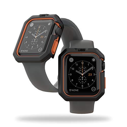 Urban Armor Gear Civilian Case für Apple Watch 40mm Schutzhülle [Watch SE, Series 6 / Series 5 / Series 4, Sturz- und stoßsicher, Displayschutz durch erhöhten Rand] - schwarz/orange