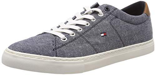 Tommy Hilfiger Seasonal Textile Sneaker, Zapatillas Hombre, Azul (Midnight 403), 45 EU