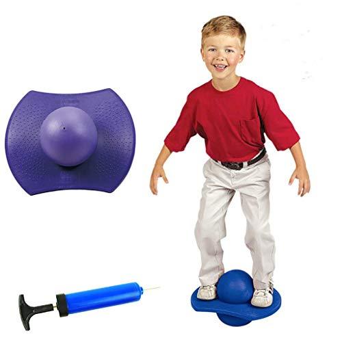 Wghz Pogo Jumping Ball, Balance Board Ejercicio Bouncing Space Ball Juguete Balance Bounce Jump Board para niños, para niños Juguete Interior al Aire Libre, Carga máxima 150Kg/330Lb, Morado
