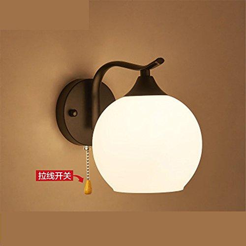 YU-K Chambre minimaliste lampe de chevet lampe murale salon élégant mur lampadaires dans l'étude du corridor routier applique murale lampe murale à LED noir en bois 25 * 15cm