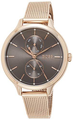 Hugo Boss Damen Analog Quarz Uhr mit Edelstahl Armband 1502536