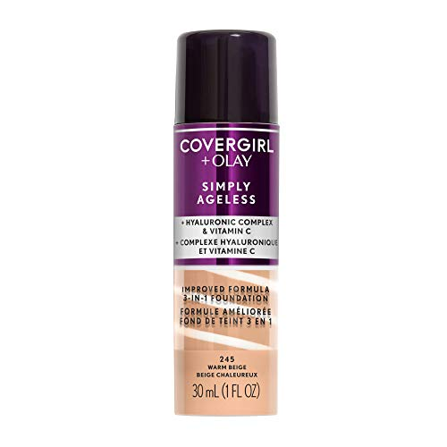 COVERGIRL+OLAY Simply Ageless 3-in-1 Liquid Foundation, Warm Beige