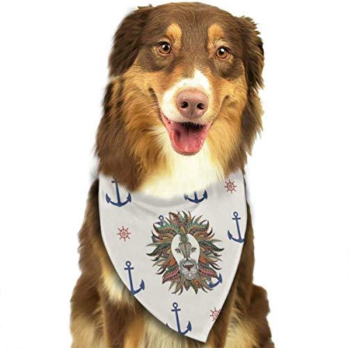 Capitán Marinero Pirata Anclas Rueda Perro Bandana Collares Pañuelo Triangular Baberos Bufandas Accesorios Mascotas Gatos y Cachorros Saliva Toalla