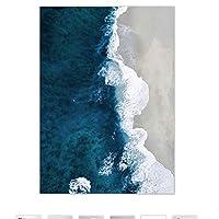 BGGGTD ポスター 海の波風景キャンバスポスター北欧スタイルビーチウォールアートプリント絵画装飾画像スカンジナビアの家の装飾-50x70cmx1フレームなし