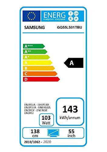 Samsung QLED 4K The Serif 138 cm (55 Zoll) (Ambient Mode, QLED-Technologie, Active Voice Amplifier) [Modelljahr 2020]